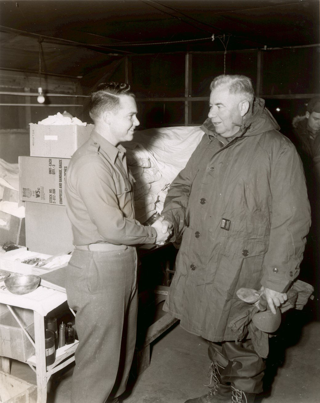 Mac with soldier in Korea
