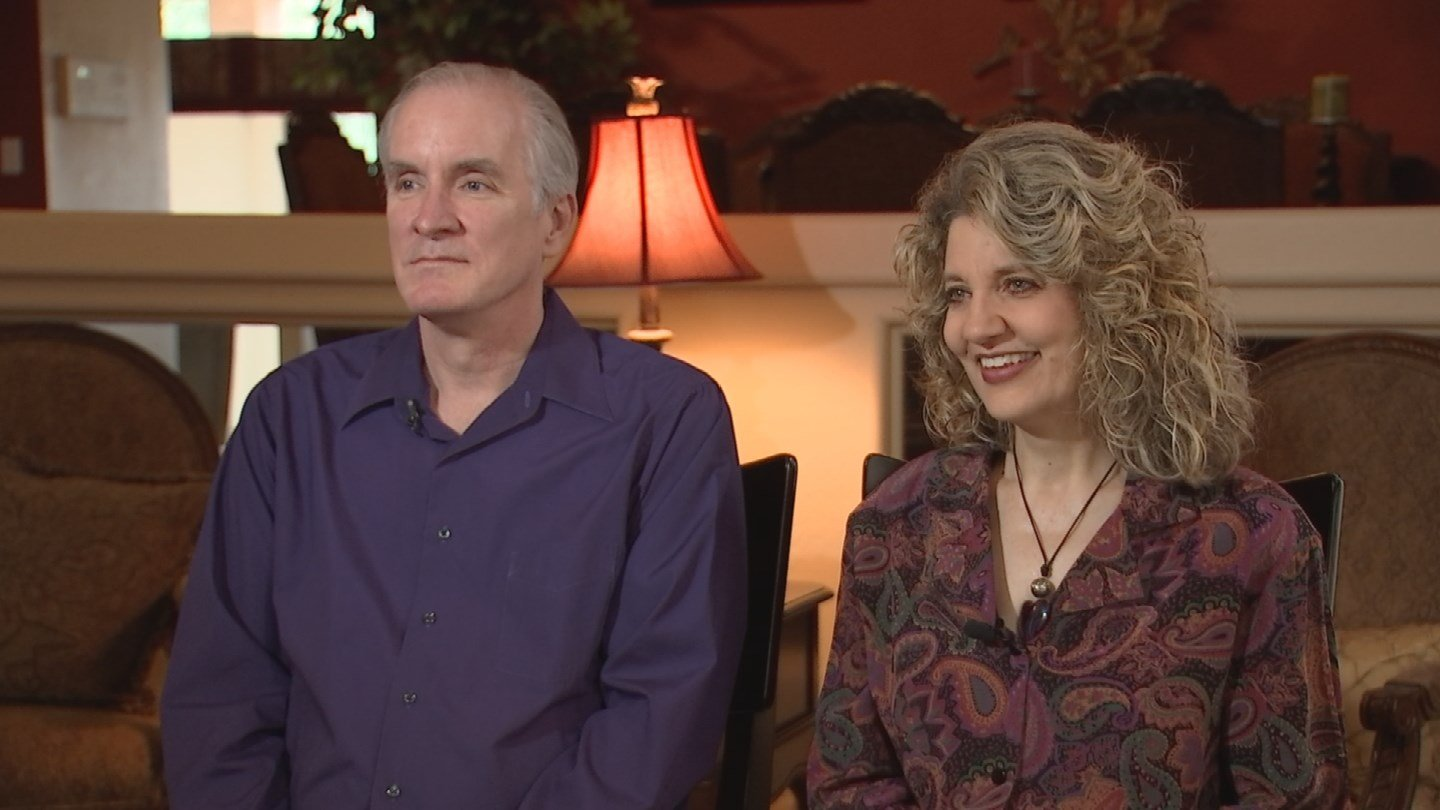 Tom Fulcher, left, and Michelle Fulcher, right. (Source: 3TV)