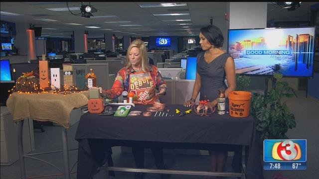 Debbie Hernandez of Home Depot descrfibed how to make your own Halloween decorations. (Source: KTVK)
