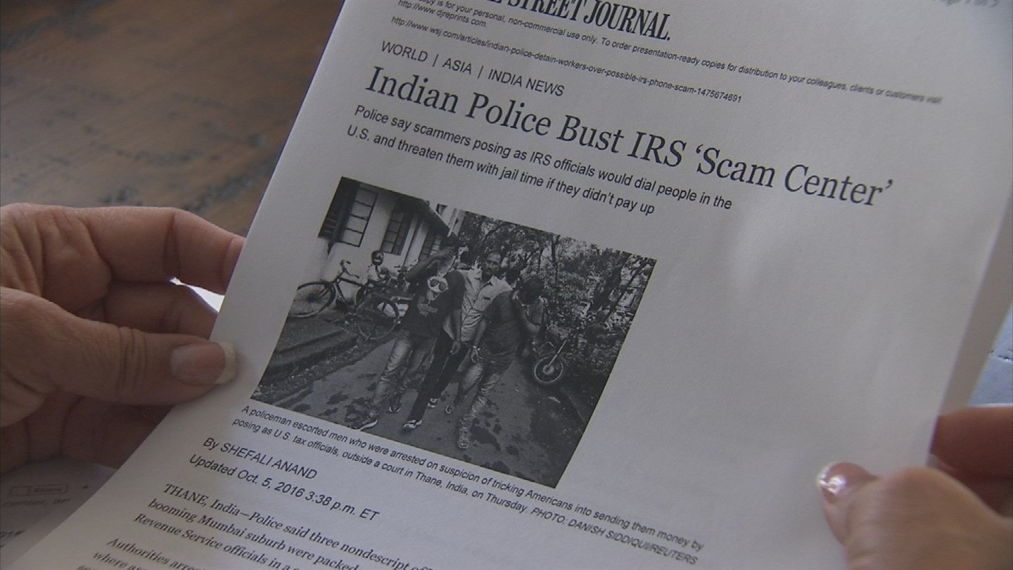 A Valley woman was happy to see arrests made in the IRS Scam, especially after she was duped out of $1,800. (Source: 3TV)