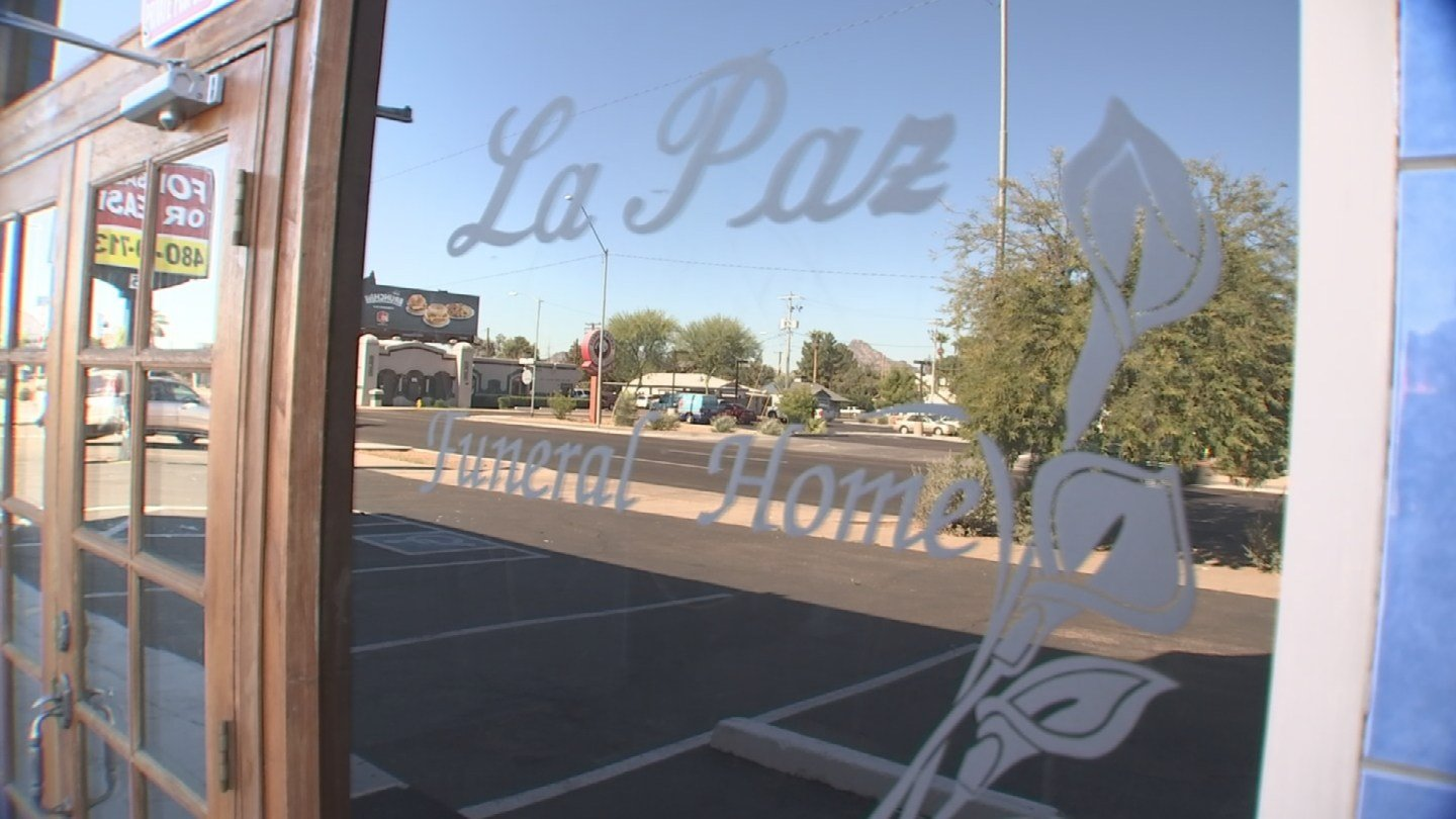 La Paz Funeral Home, the funeral home listed in the policy, recently went out of business. (Source: 3TV)
