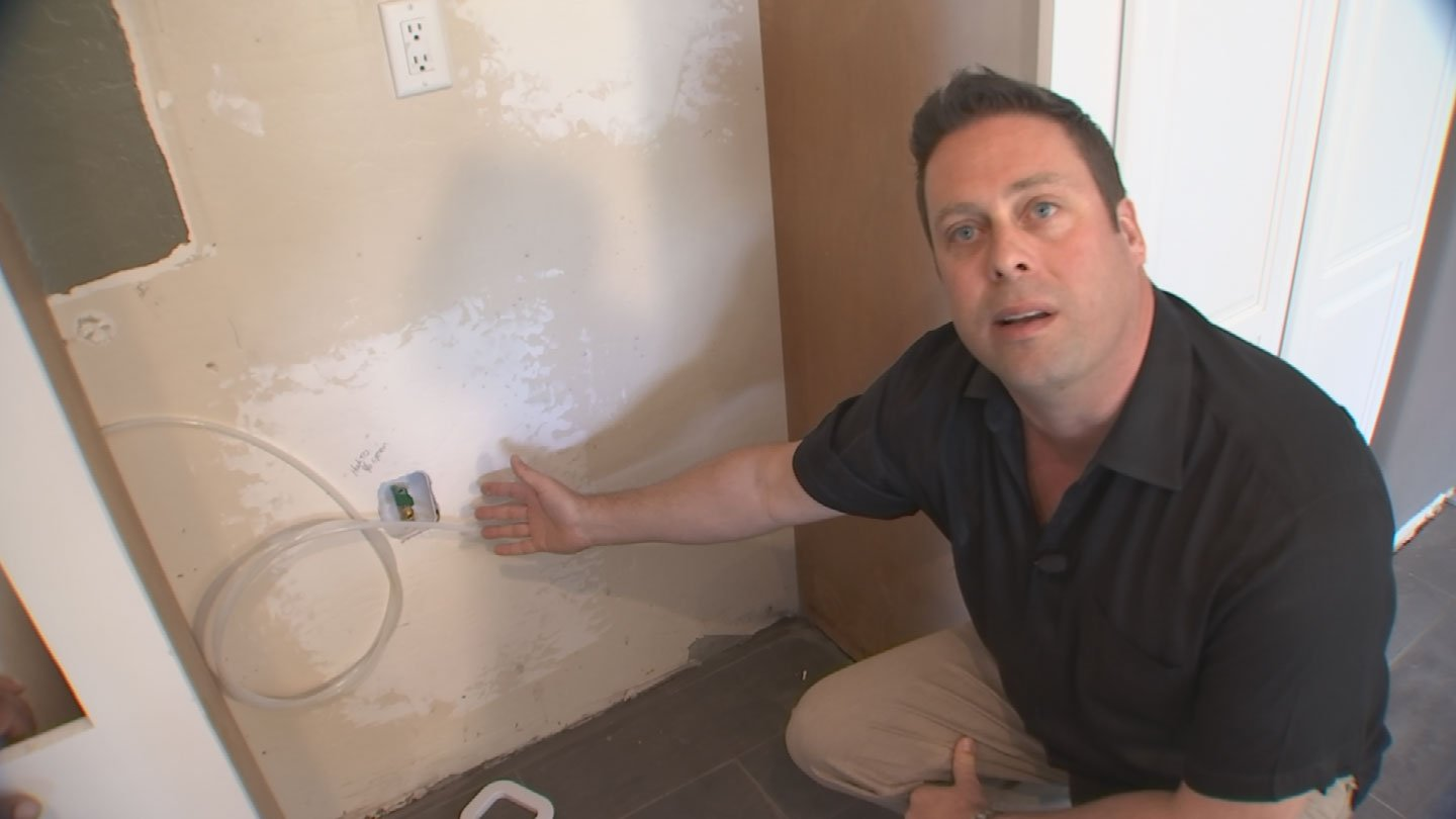 In a previous report, Matt Sargent showed where Bryan Hayden installed a water line hooked up to nothing. (Source: 3TV)