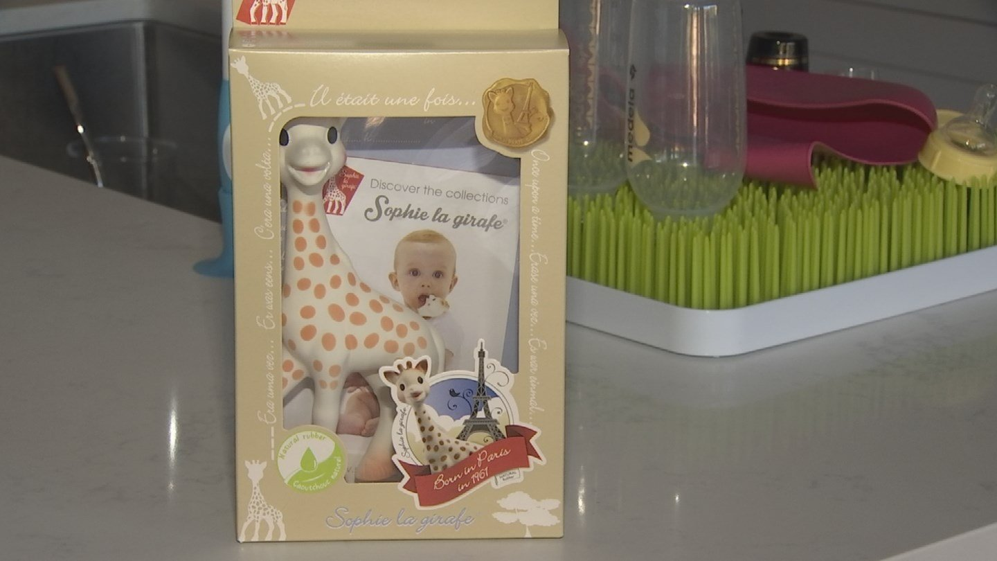 "Some parents have found mold inside the popular teething toy ""Sophie the Giraffe."" (Source: CNN)"