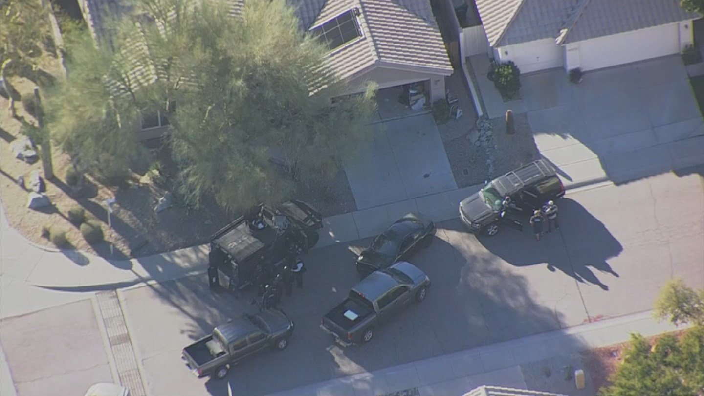A suspect  is refusing to come out of his house. (Source: 3TV/CBS 5)