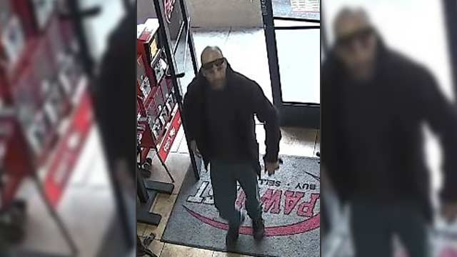 The suspect is described as a white male, 35 years old, 5 feet 10 inches tall, weighing 150 pounds. (Source: Silent Witness)