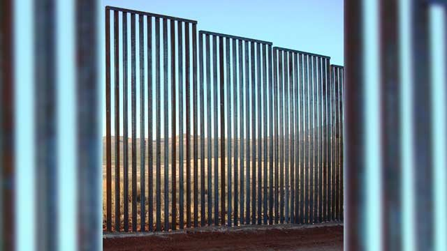 Example of a bollard fence in Tucson Sector (Source: CBP.gov)