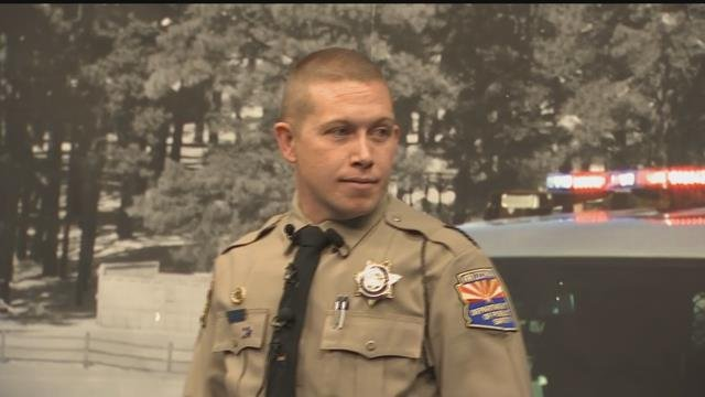 DPS Trooper Jonathan Otto talked Thursday about the traffic stop that resulted in the rescue of a 16-year-old girl who was being sold for sex. (Source: 3TV/CBS 5)