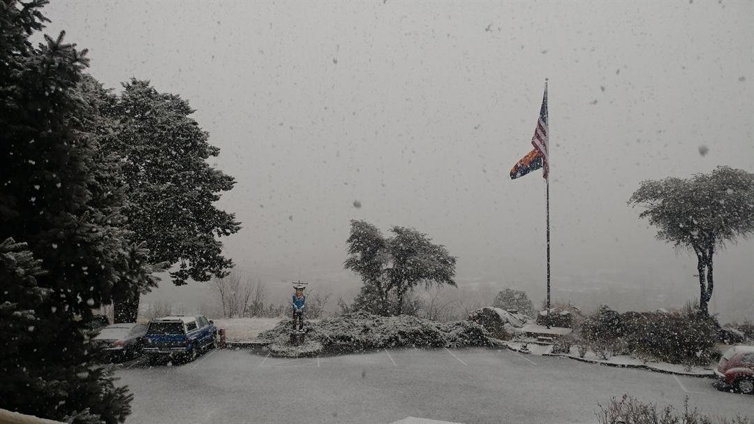 Snow in Prescott. (Source: Lisa Watts)