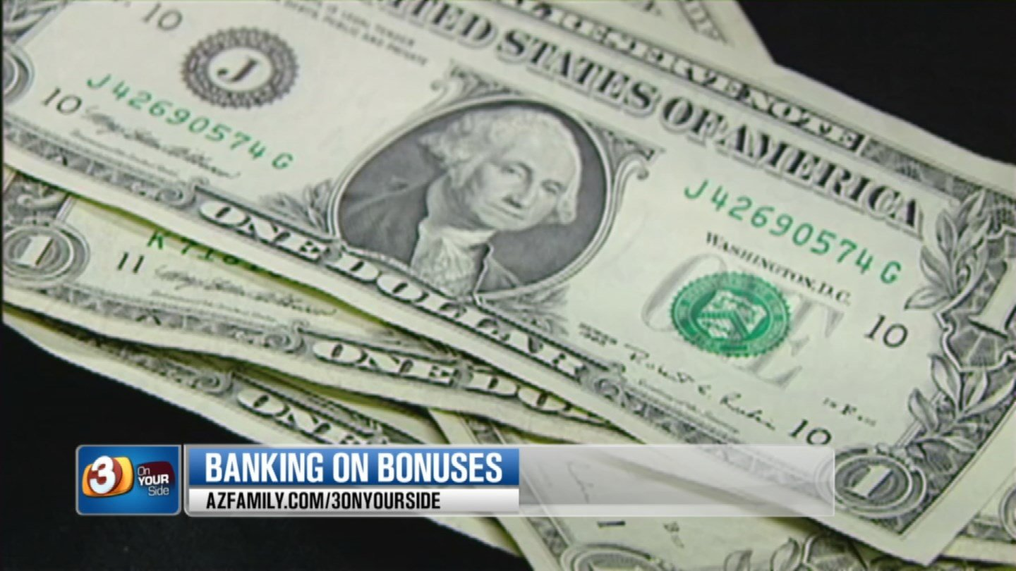 Some banks are offering cash bonuses to open up new accounts. (Source: 3TV)