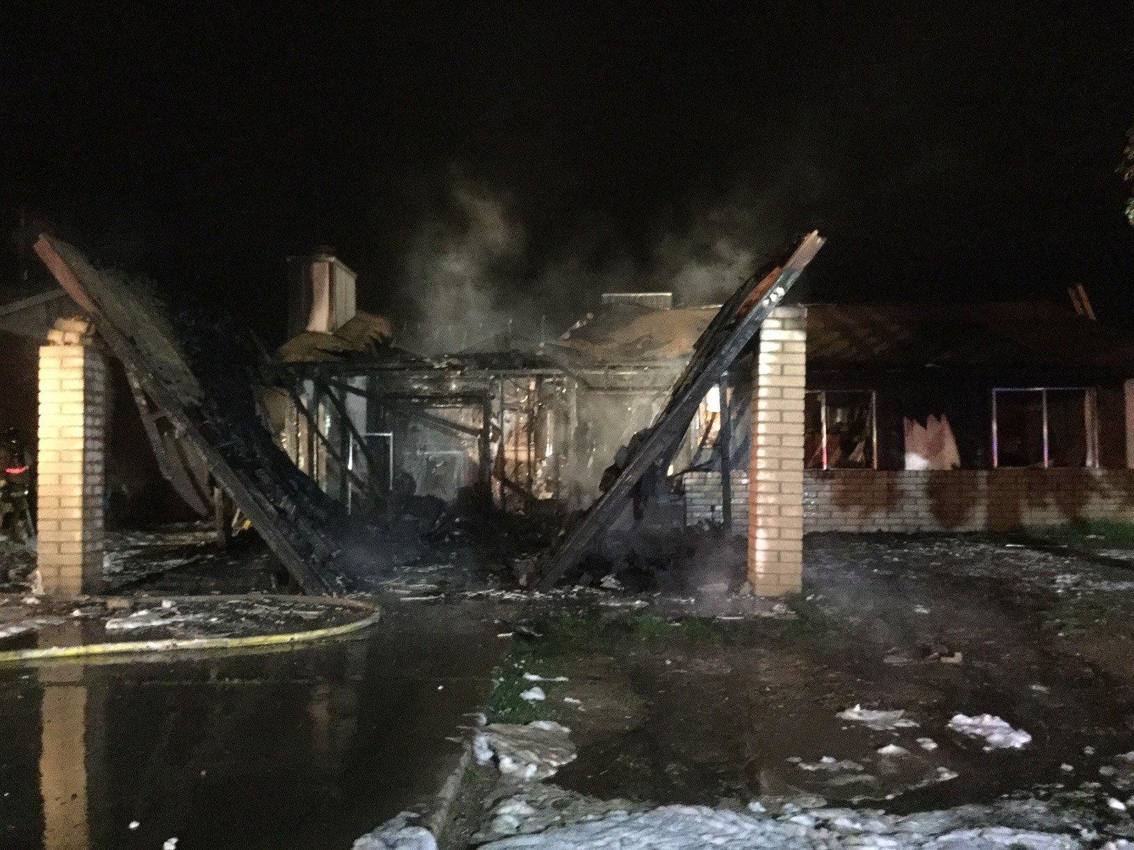 An early-morning fire guts a home in Phoenix. (Source: Phoenix Fire Department)
