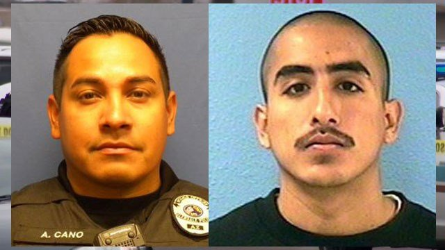 Officer Anthony Cano (left) and Abel Rodriguez (Source: Glendale Police Department)