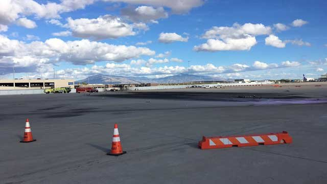 The crash occurred on the apron east of the terminal. (Source: Tucson International Airport)