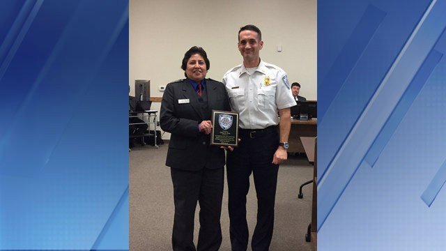 Margarita Bueno was given the Lifesaving Award from the Goodyear Fire Department. (Source: Goodyear Fire Department)
