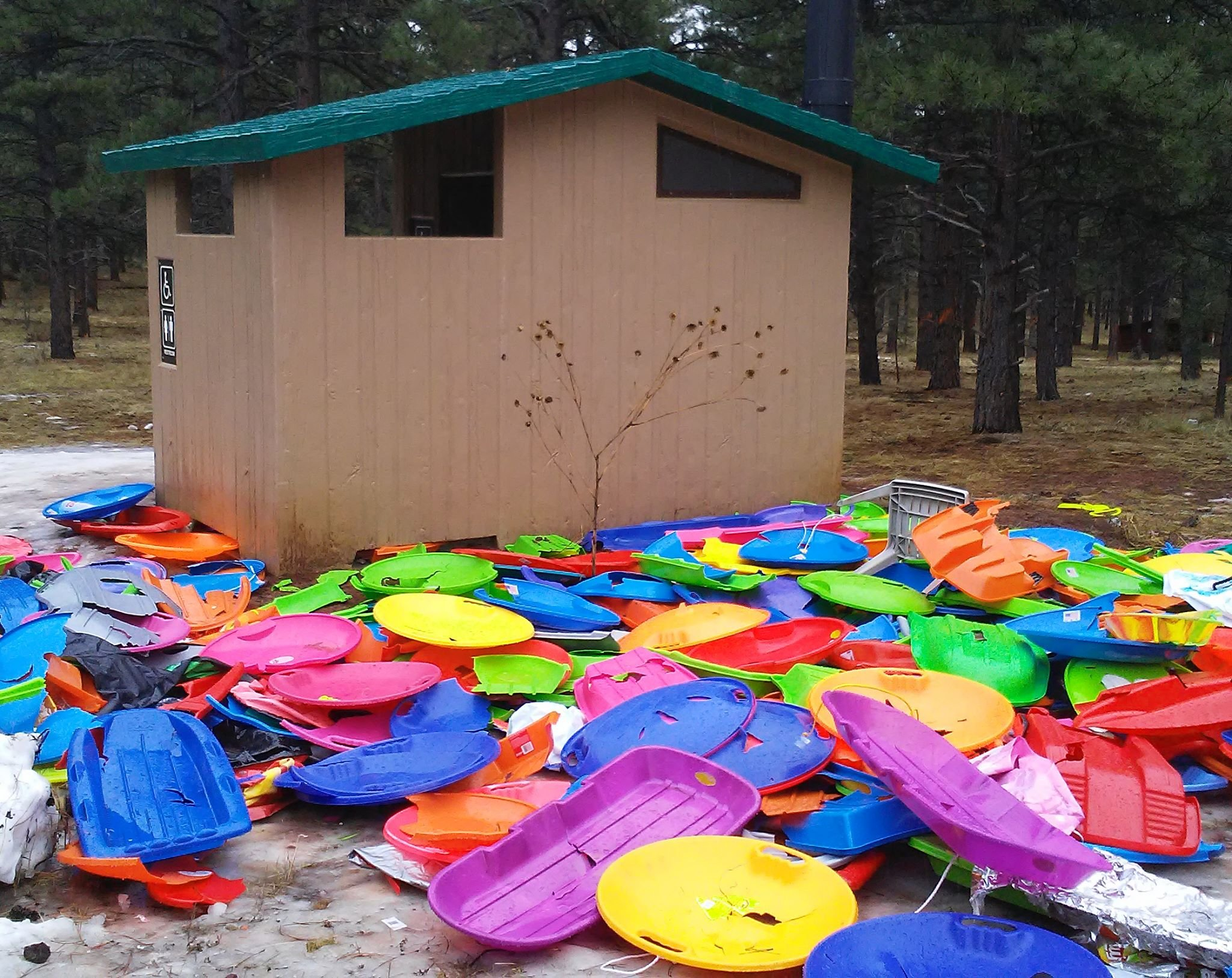 Trash left behind by visitors (Source: U.S. Forest Service - Kaibab National Forest)