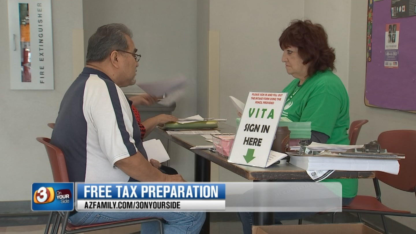The Volunteer Tax Assistance Program offers free tax preparation for those who make under $54,000. (Source: 3TV)