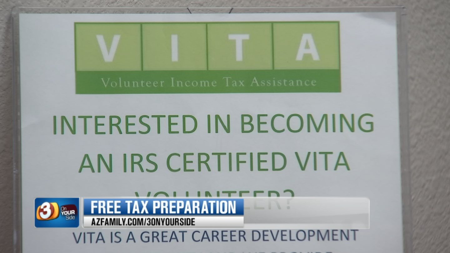 VITA provides tax preparers who are trained and certified by the Internal Revenue Service all in an effort to get your taxes done properly. (Source: 3TV)