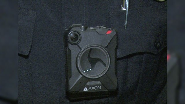 By November about 200 Tempe Police officers were wearing body cameras. The cameras need to be manually turned on. (Source: Natalie Tarangioli/Cronkite News)