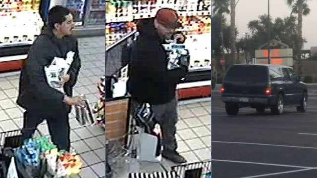The Avondale Police Department has released surveillance photos of two suspects in a robbery at an Avondale Circle K, and investigators are hoping somebody will recognize them. (Source: Avondale Police Department)