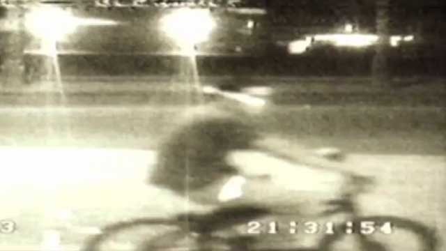 The suspect was seen riding away on a small bicycle. (Source: Glendale Police Department)