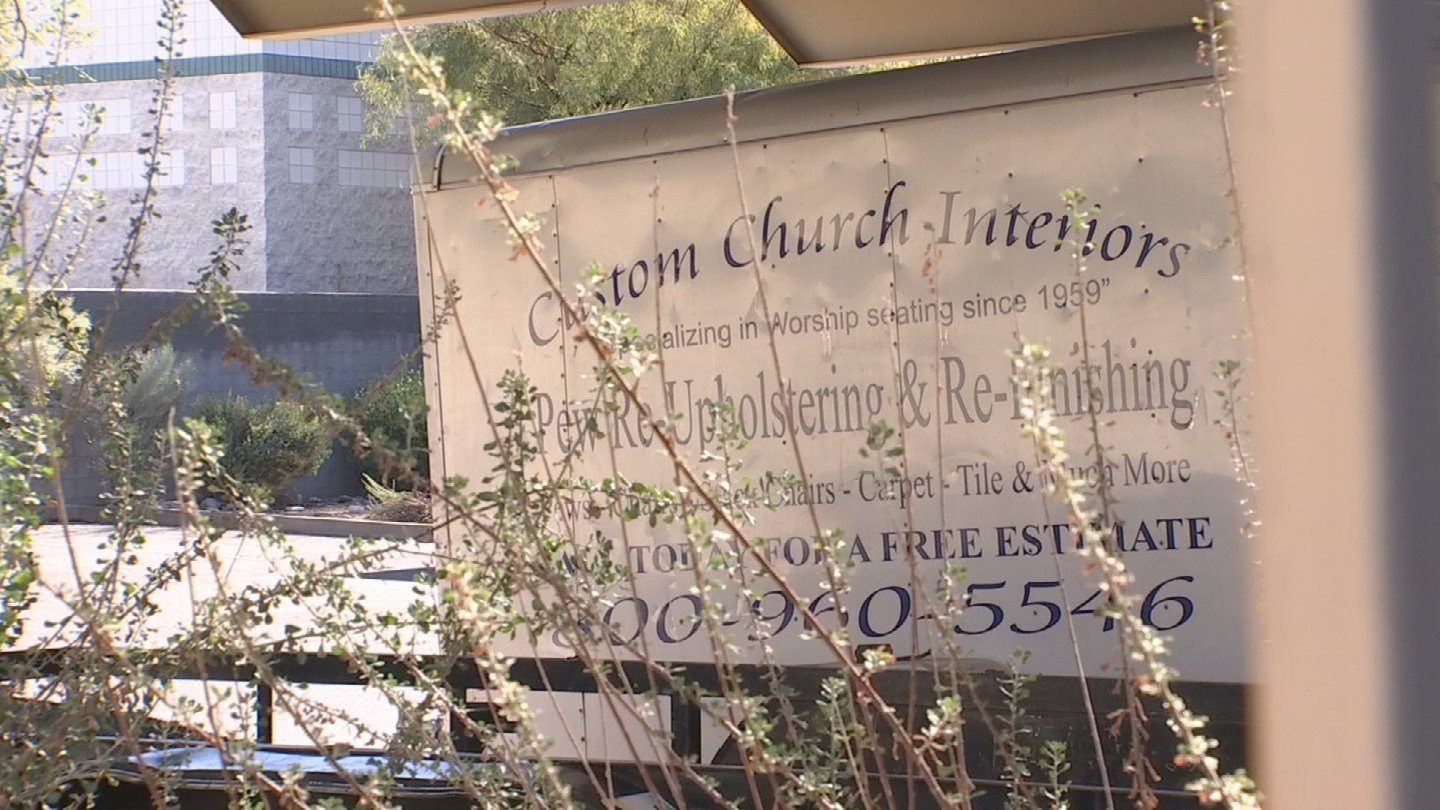 Custom Church Interiors had been locked out by the landlord. (Source: 3TV)