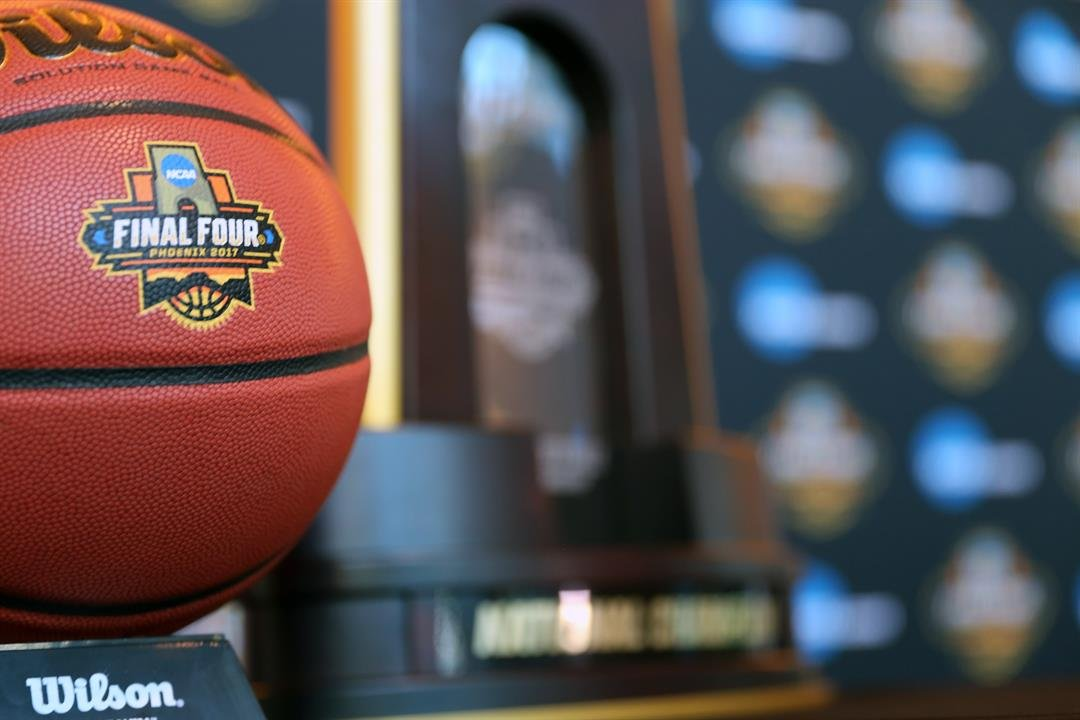 A tight shot of the official Final Four Phoenix 2017 logo on Jan. 25, 2017. (Source: Nicole Praga/Cronkite News)