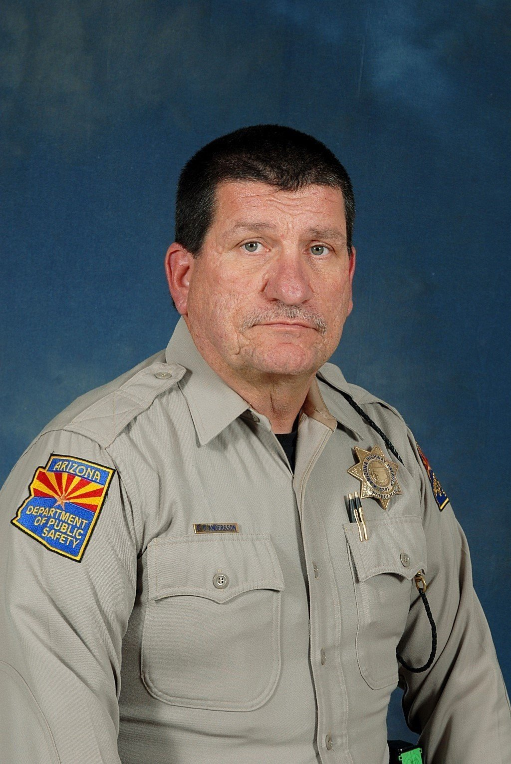 Arizona Trooper Ed Andersson was hospitalized after an assailant attacked him on a highway. A good Samaritan shot the assailant. (Source: Arizona Department of Public Safety)