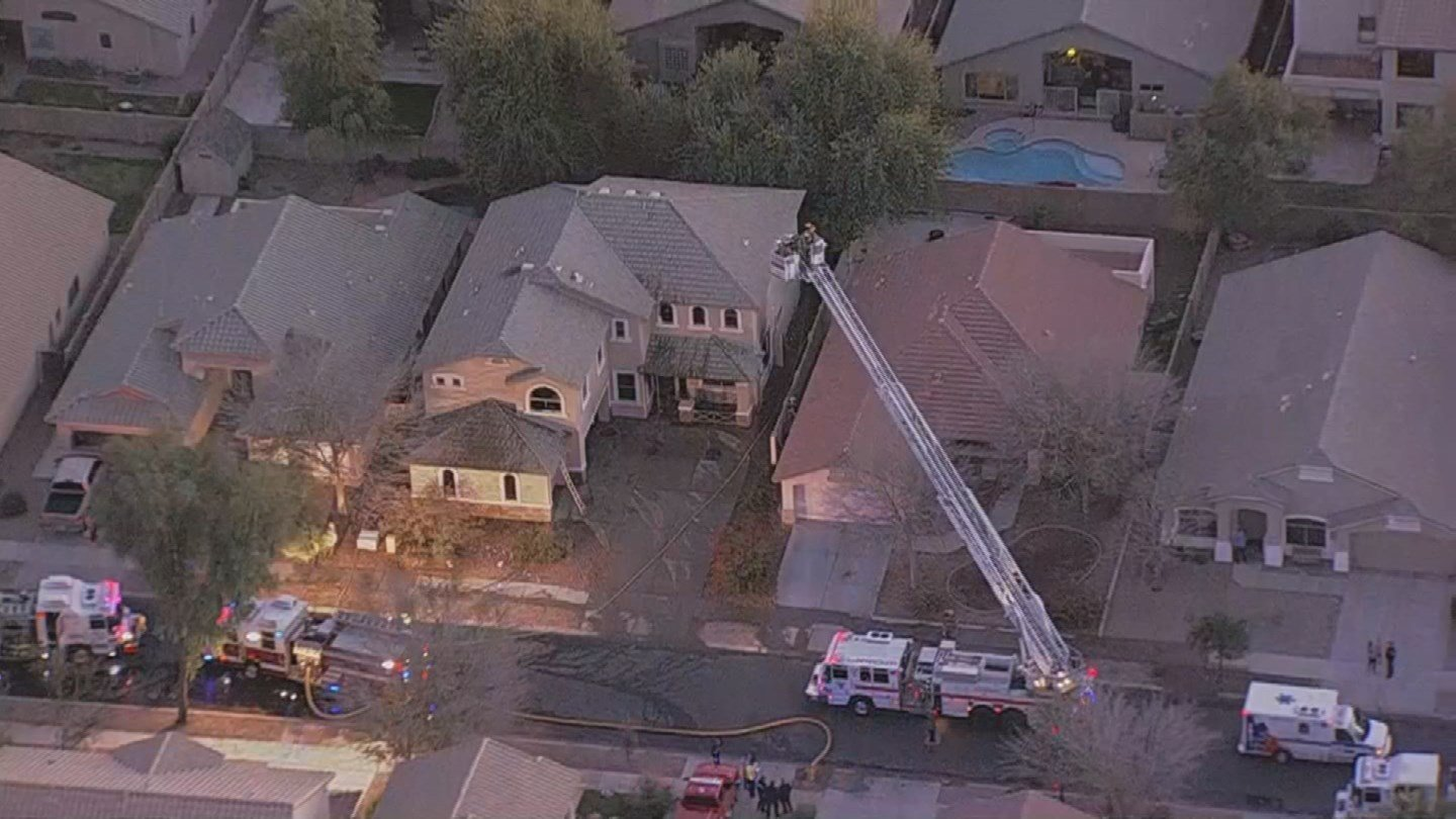 A mother and son were found dead after a house fire in Queen Creek. (Source: 3TV/CBS 5)