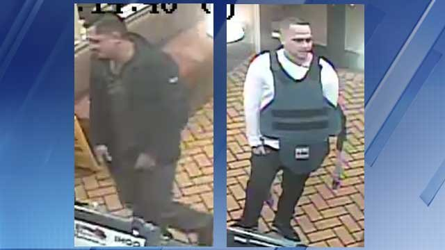 Police are trying to identify these two robbery suspects. (Source: Silent Witness)