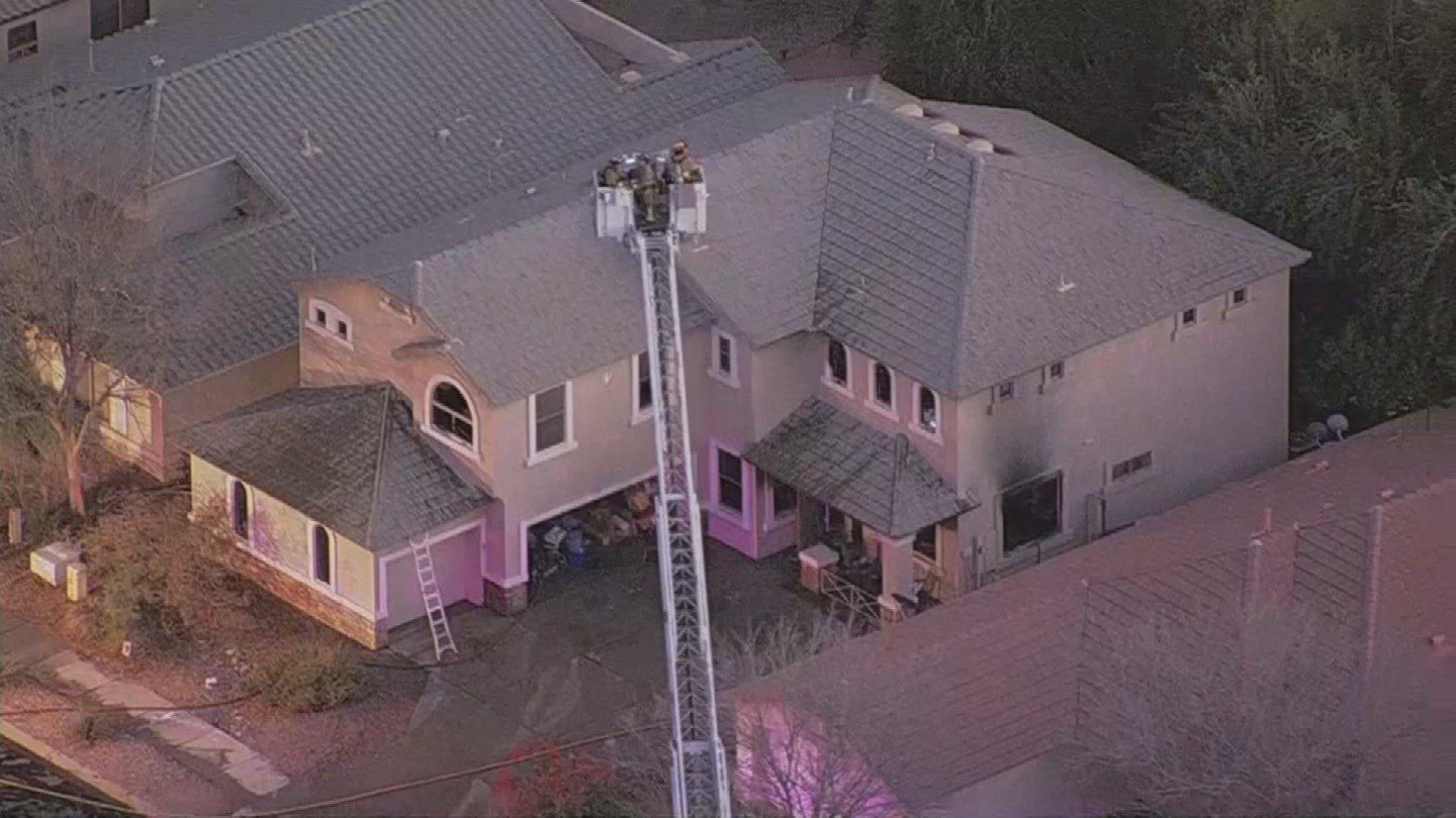 Two people were found dead after a house fire in Queen Creek. (Source: 3TV/CBS 5)