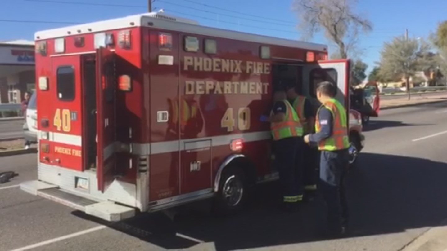 2 women riding an ATV crashed into a vehicle in west Phoenix. (Source: Phoenix Fire Department)