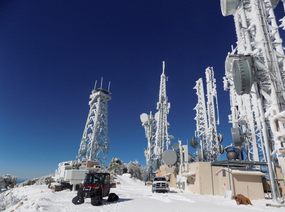 Damage to mountaintop radio towers caused by storms threatened to cut radio communications, DPS said. (Source: Arizona Department of Public Safety)