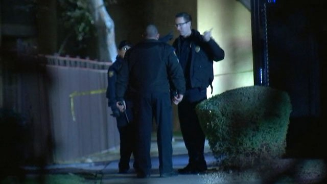 Police officers swarm the shooting scene near Metrocenter Mall. (Source: 3TV/CBS 5)