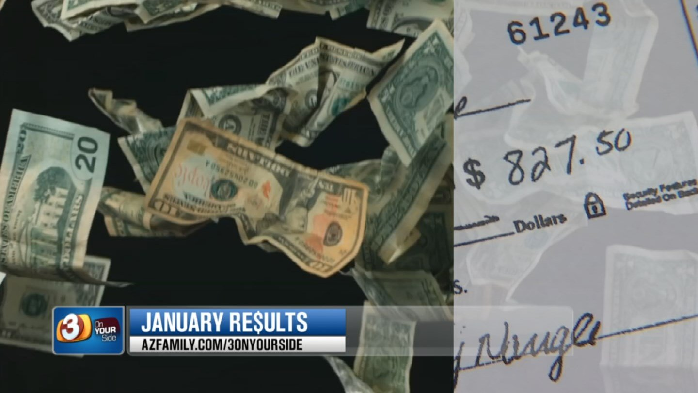 Jay Naugle had a stop payment on a check but it was cashed any way and then 3 On Your Side got involved and Naugle got his money back. (Source: 3TV)