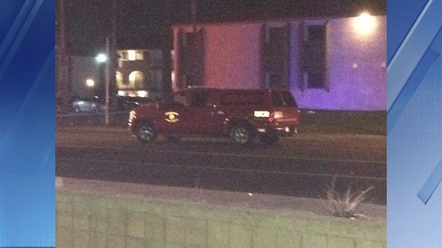 A pickup truck operated by the Phoenix Fire Department hit a person on Monday. (Source: 3TV/CBS 5)
