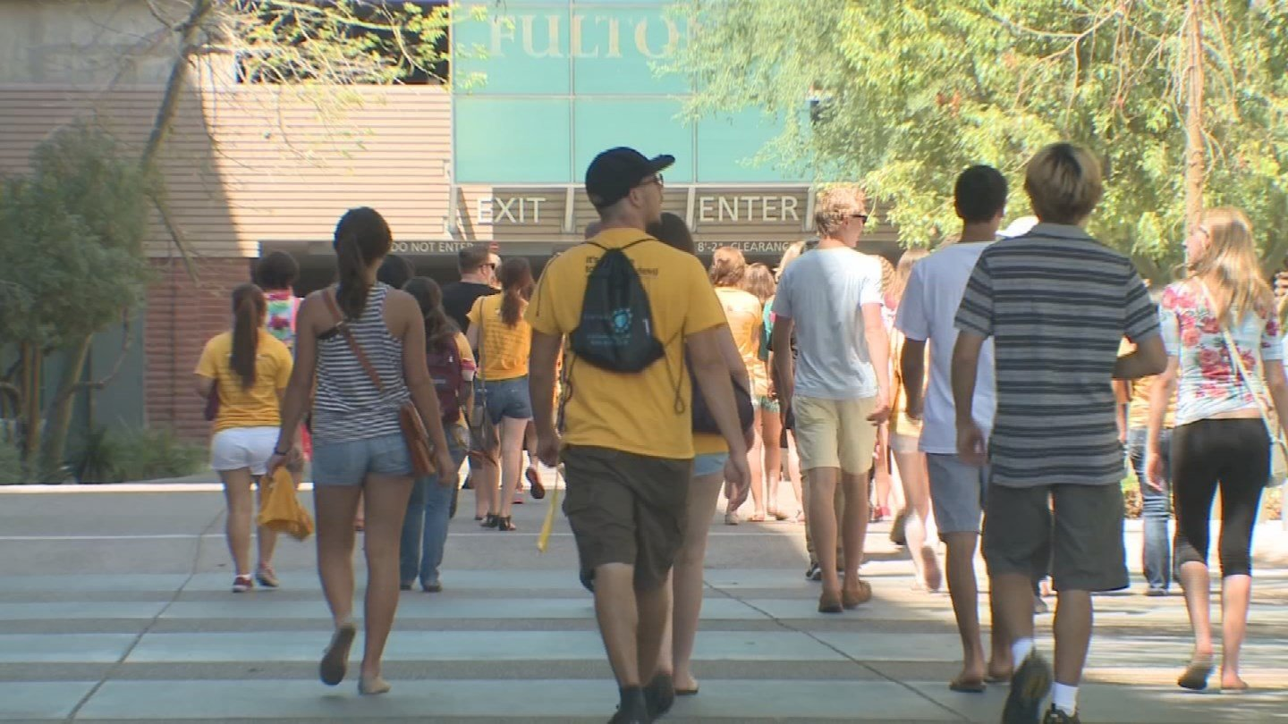 Student workers at ASU won't see a $10 per hour minimum wage yet. (Source: 3TV/CBS 5)