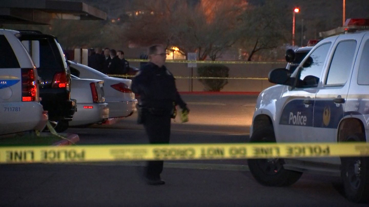 Police strung crime tape as they opened their investigation. (Source: 3TV/CBS 5)