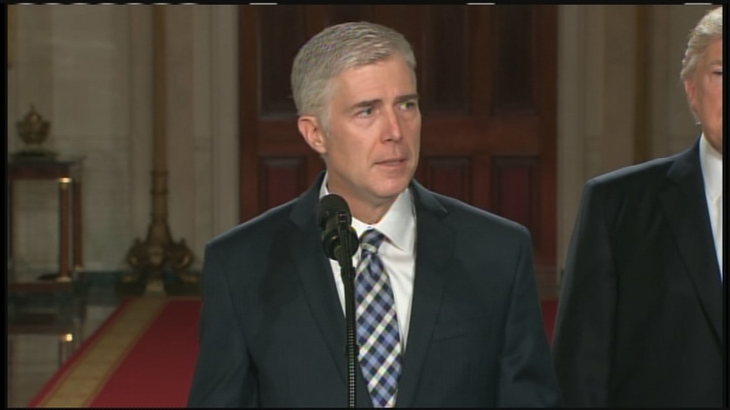 Judge Neil Gorsuch was nominated to the U.S. Supreme Court on Tuesday. (Source: CNN)