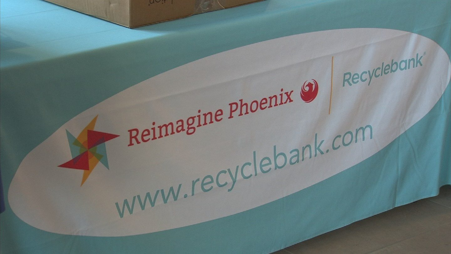 The new rewards system is through Recyclebank. (Source: 3TV/CBS 5)