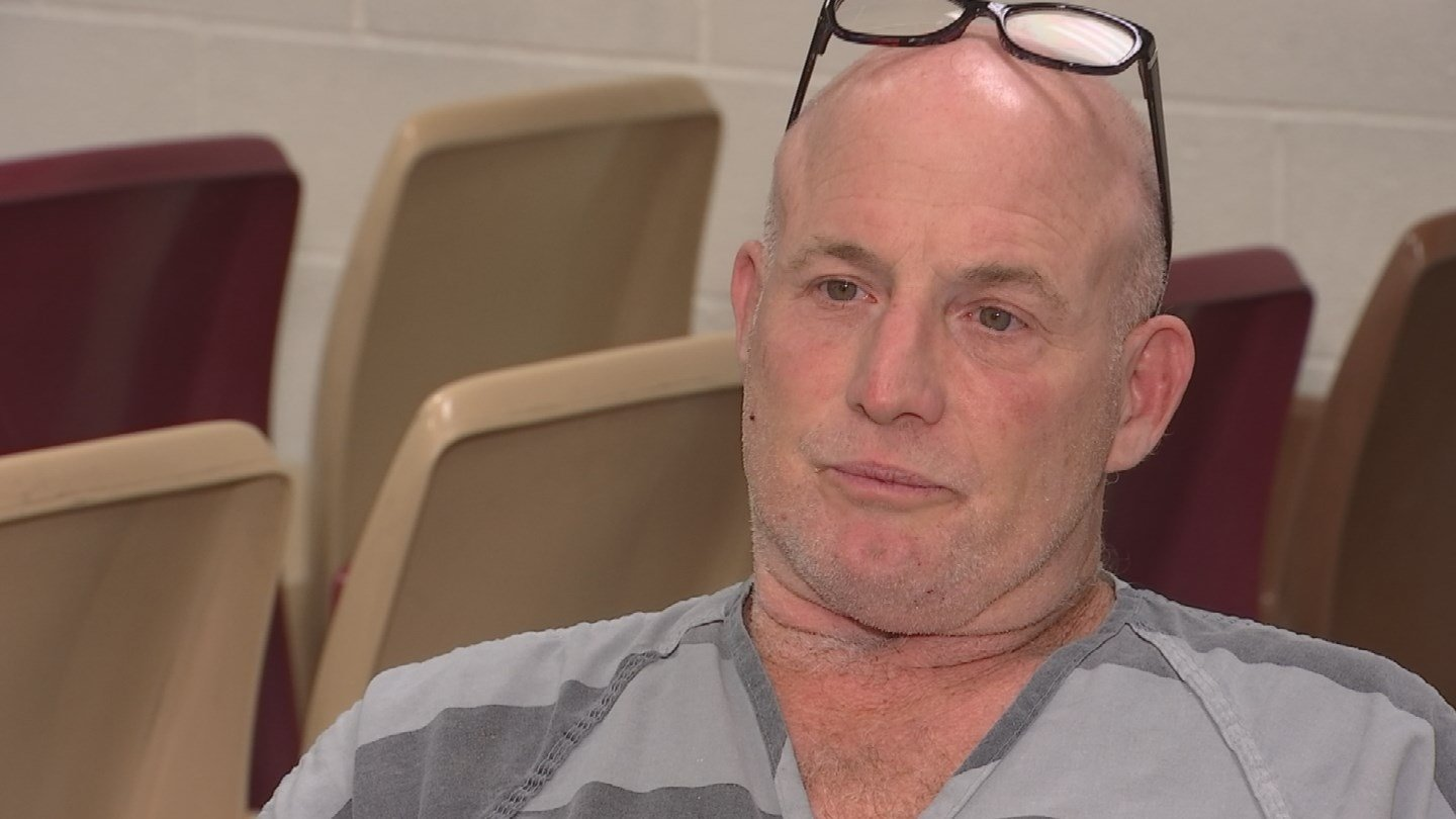 'I tell you I'm not a counterfeiter,' Mike Provencher, 53, said during a jailhouse interview. (Source: 3TV/CBS 5)