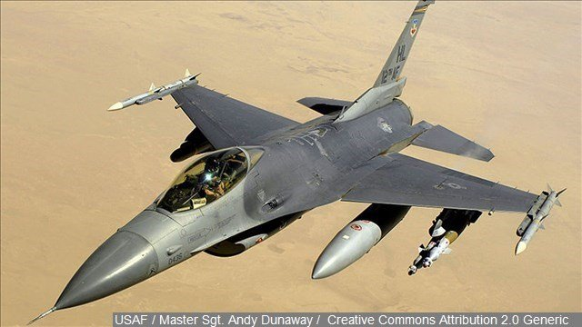 An F-16 appears in this file image. (Source: MGN Online)