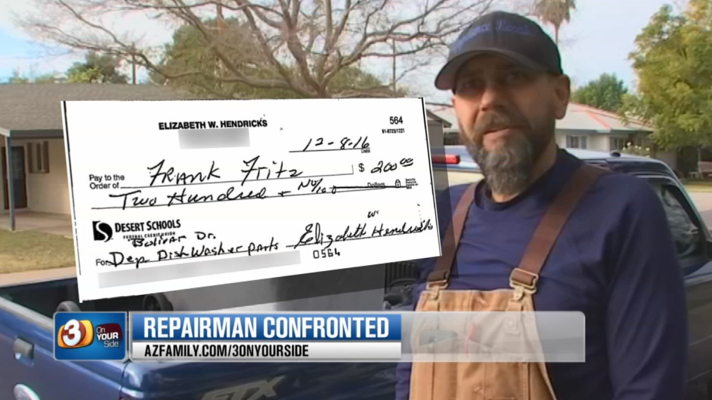 A Sun City woman accused Frank Fritz of taking $200 and not doing any work. (Source:3TV)
