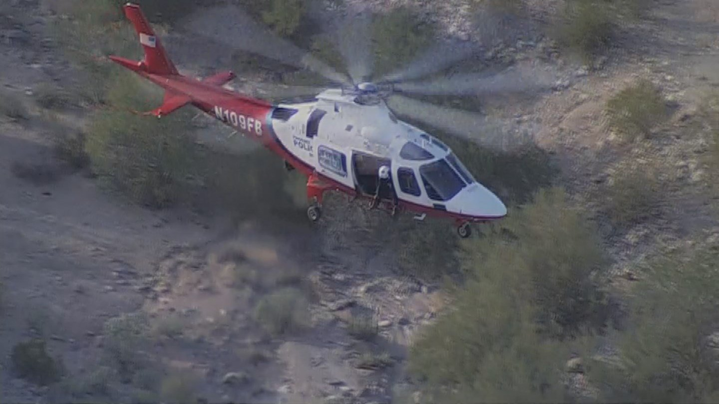 The man reportedly fell and couldn't make it down the mountain. (Source: 3TV/CBS 5)