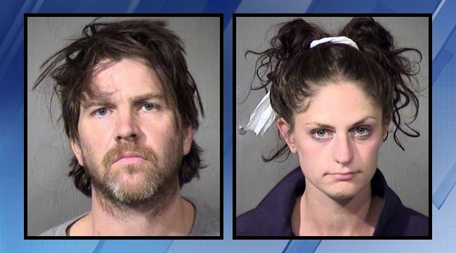 Booking photos of Billy Clayton and Shawna Houseal. (Source: Maricopa County Sheriff's Office)