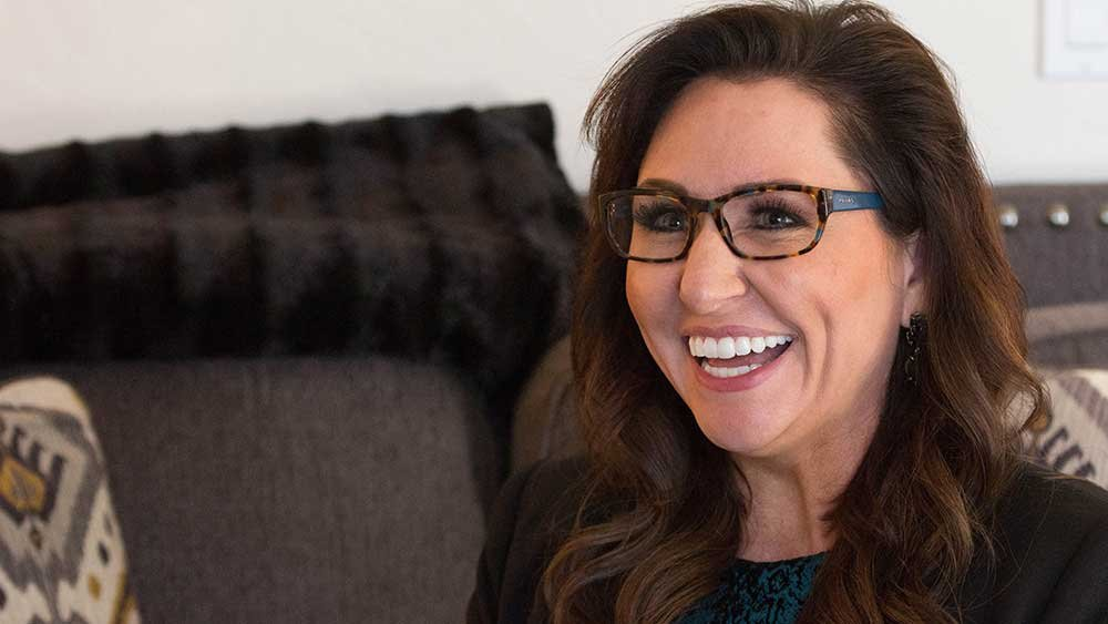Dr. Amy Serin, neuropsychologist and creator of Buzzies, said the product inhibits stress responses and enhances memory recognition. (Source: Megan Bridgeman/Cronkite News)