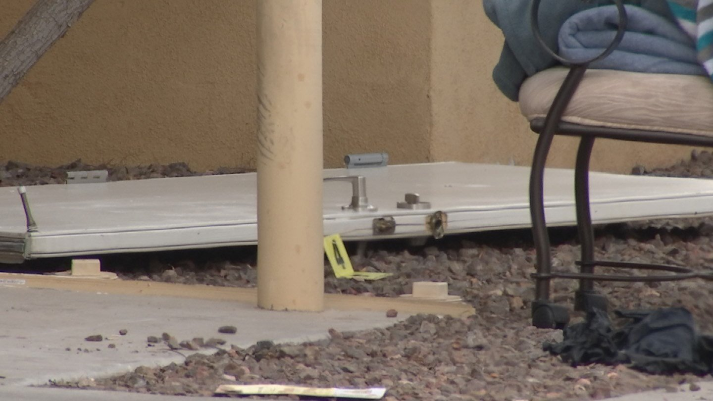 Officers found an apartment door that had been kicked in after responding to a report of shots fired. (Source: 3TV/CBS 5)