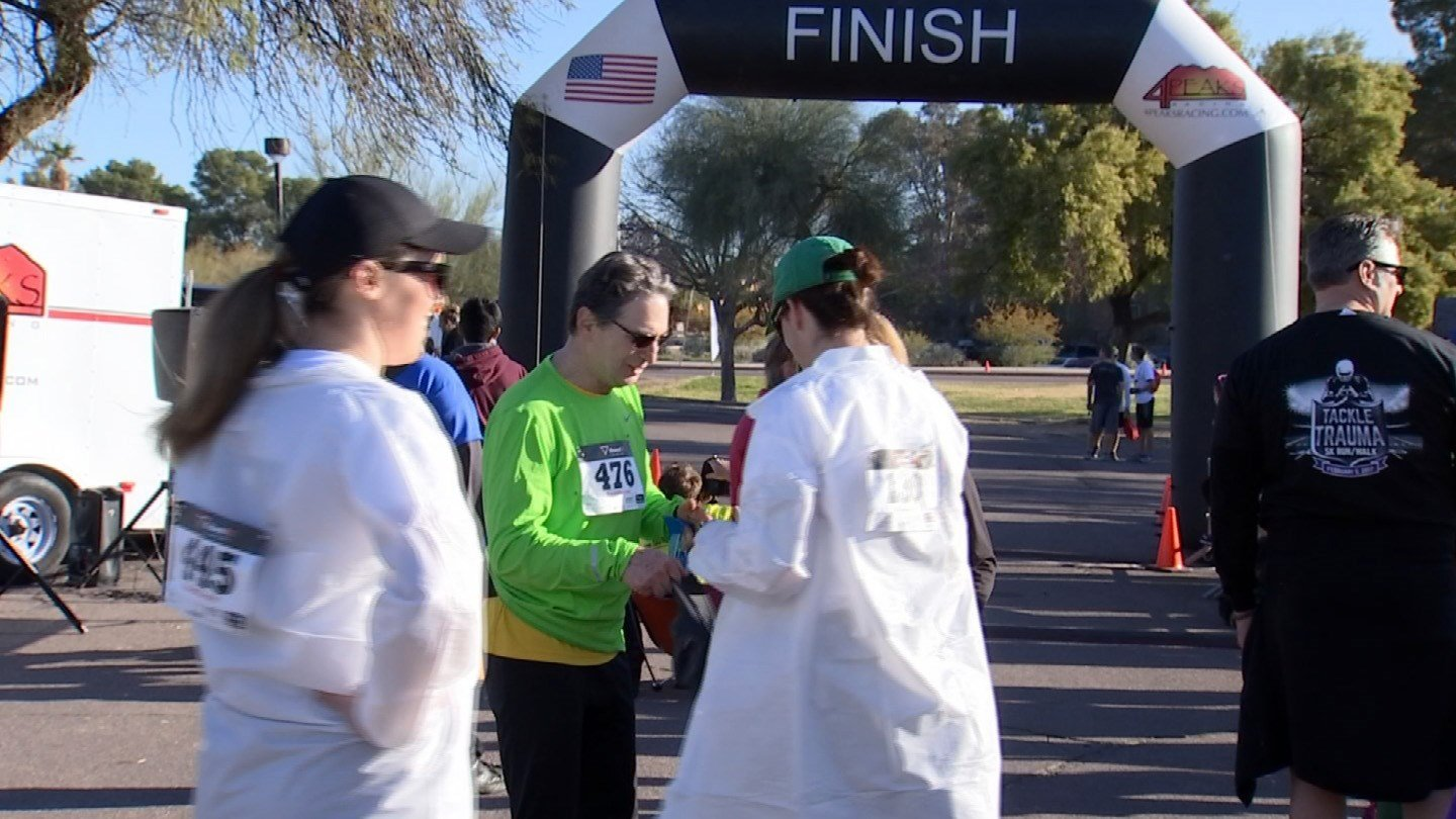 Tackle Trauma Run was held in Tempe on Sunday. (Source: 3TV/CBS 5)