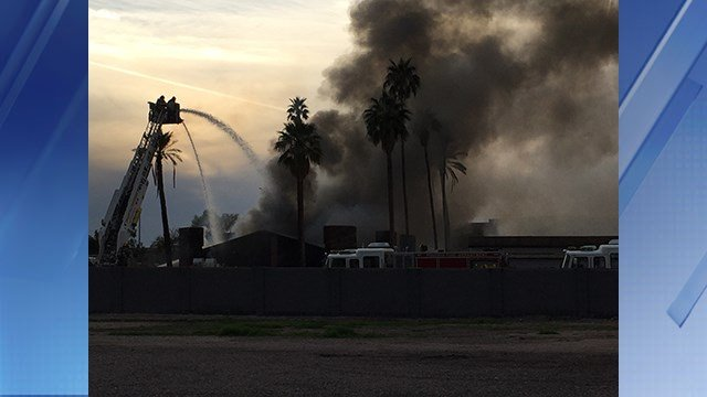 A fire broke out at an abandoned building. (Source: 3TV/CBS 5)