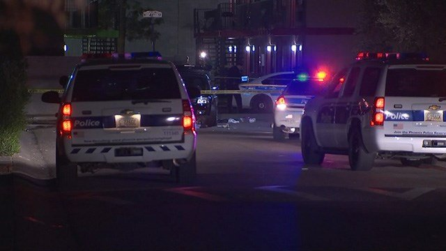 Phoenix police were investigating after the body of a man was found underneath a car. (Sourxe: 3TV/CBS 5)