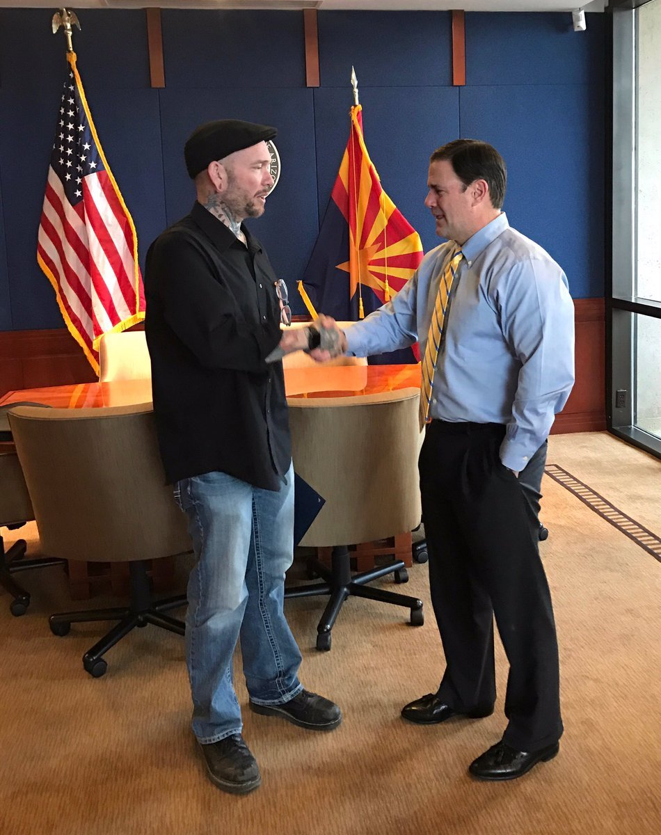 Thomas Yoxall meets with Gov. on Monday (Source: Gov. Ducey)
