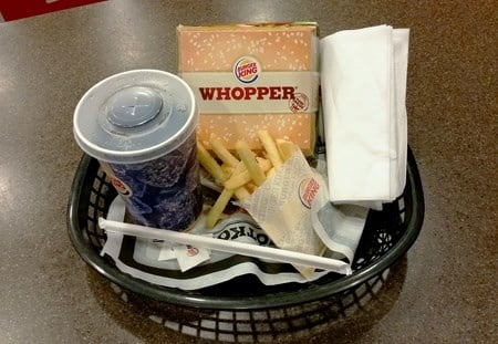 Burger King Whopper meal (Source: Roland Magnusson via 123RF)